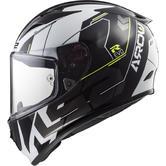 LS2 FF323 Arrow R Evo Techno Motorcycle Helmet XS Black White