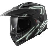 LS2 FF324 Metro Evo Firefly Flip Front Motorcycle Helmet XL Matt Black