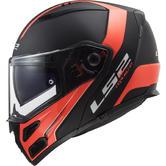 LS2 FF324 Metro Evo Rapid Flip Front Motorcycle Helmet S Matt Black Orange
