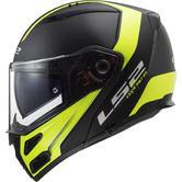 LS2 FF324 Metro Evo Rapid Flip Front Motorcycle Helmet XL Matt Black H-V Yellow
