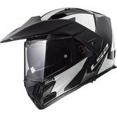 LS2 FF324 Metro Evo Sub Flip Front Motorcycle Helmet S White Black