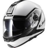LS2 FF325 Strobe Civik Flip Front Motorcycle Helmet S White Black