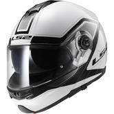 LS2 FF325 Strobe Civik Flip Front Motorcycle Helmet XS White Black