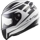 LS2 FF353 Rapid Carborace Motorcycle Helmet L White Black