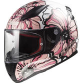 LS2 FF353 Rapid Poppies Motorcycle Helmet XL White Pink