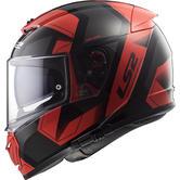 LS2 FF390 Breaker Physics Motorcycle Helmet M Black Red