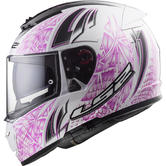 LS2 FF390 Breaker Rumble Motorcycle Helmet L White Pink