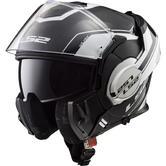 LS2 FF399 Valiant Lumen Flip Front Motorcycle Helmet L Matt Gloss Black Light