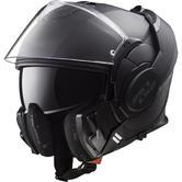 LS2 FF399 Valiant Noir Flip Front Motorcycle Helmet XS Matt Black