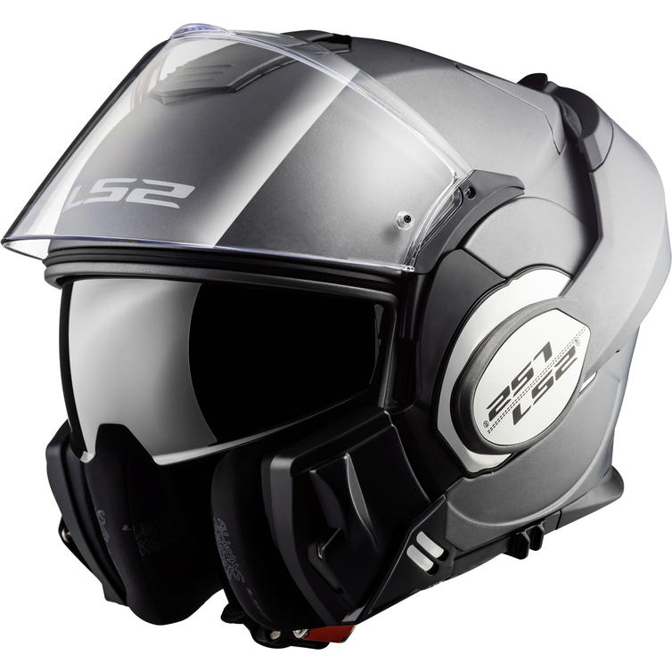 LS2 Motorcycle Helmets-Valiant Matt Size XS Black