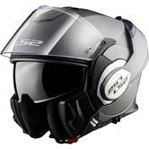 LS2 FF399 Valiant Single Mono Flip Front Motorcycle Helmet XS Matt Titanium