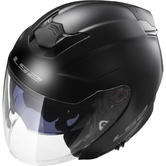 LS2 OF521.10 Infinity Solid Open Face Motorcycle Helmet S Matt Black