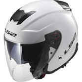 LS2 OF521.10 Infinity Solid Open Face Motorcycle Helmet XL White