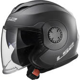 LS2 OF570 Verso Solid Open Face Motorcycle Helmet L Matt Titanium