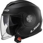 LS2 OF570 Verso Solid Open Face Motorcycle Helmet XL Matt Black