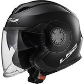 LS2 OF570 Verso Solid Open Face Motorcycle Helmet XS Black