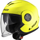 LS2 OF570 Verso Solid Open Face Motorcycle Helmet XS H-V Yellow