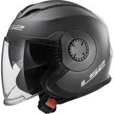 LS2 OF570 Verso Solid Open Face Motorcycle Helmet XS Matt Titanium