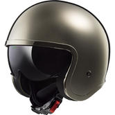 LS2 OF599 Spitfire Solid Open Face Motorcycle Helmet M Chrome