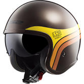 LS2 OF599 Spitfire Sunrise Open Face Motorcycle Helmet XL Brown