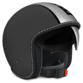 Momo Design Blade Open-Face Motorcycle Helmet M Frost Black Satin