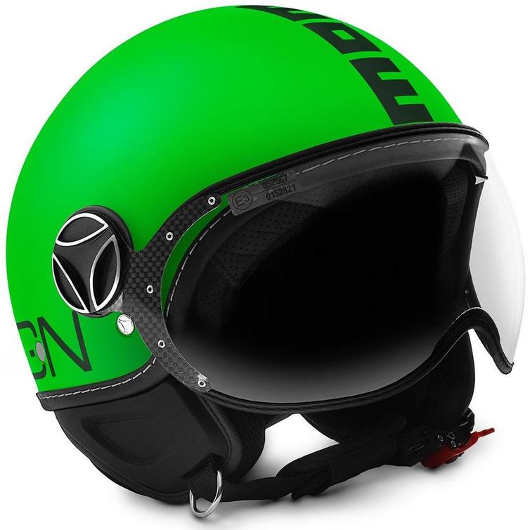Momo Design FGTR Fluo Open-Face Motorcycle Helmet L Matt Black Neon Green