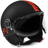 Momo Design FGTR Fluo Open Face-Motorcycle Helmet XS Matt Black Neon Orange