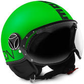 Momo Design FGTR Fluo Open-Face Motorcycle Helmet M Matt Black Neon Green