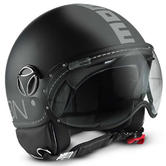 Momo Design FGTR Classic Open-Face Motorcycle Helmet M Matt Black Silver