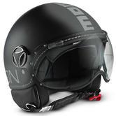 Momo Design FGTR Classic Open-Face Motorcycle Helmet XS Matt Black Silver