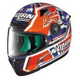 Nolan X-Lite X-802RR Suzuka C. Stoner Replica Full Face Motorcycle Helmet M Blue Orange White