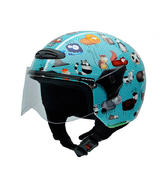 NZI Helix Animals Youth Open Face Motorcycle Helmet JS (50-51cm) Blue