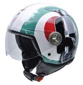 NZI Vintage II Super Cinquatotto Open Face Motorcycle Helmet M (57cm) Red White Green