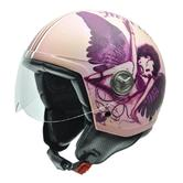 NZI Vintage II Heartbraker Open Face Motorcycle Helmet XL (59cm) Purple