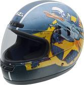 NZI Activy Duck Youth Motorcycle Helmet S Blue Yellow
