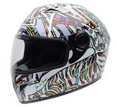 NZI Vital Big Jungle Motorcycle Helmet M (57cm) White Red Yellow