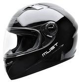 NZI Must II Solid Motorcylce Helmet L (58-59cm) Shine Black