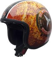 NZI Rolling 3 Sun Ushuaia Triumph Open Face Motorcycle Helmet L (58-59cm) Red Yellow