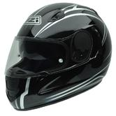 NZI Premium S Profile Motorcycle Helmet XS (54cm) Black White