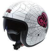 NZI Rolling 3 Sun AJ Lee Spider Love Open Face Motorcycle Helmet XXL (62-63cm) White Pink