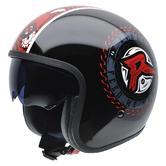 NZI Rolling 3 Sun Ryback More Open Face Motorcycle Helmet XXL (62-63cm) Black Red