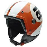 NZI Tonup Billard Ball Open Face Motorcycle Helmet M (57cm) White Orange