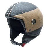 NZI Tonup Open Face Motorcycle Helmet XS (54cm) Black Brown