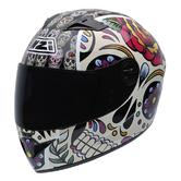 NZI Vital Mexican Skulls Motorcycle Helmet M (57cm) White Black Red