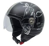 NZI Zeta Vespa Turia Open Face Motorcycle Helmet XS (54cm) Black