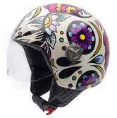 NZI Zeta Catrina Open Face Motorcycle Helmet L (58cm) White Purple