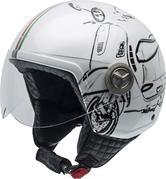 NZI Zeta Vespa Turia Open Face Motorcycle Helmet XXS (54cm) White Black