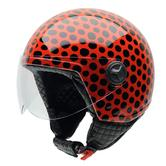 NZI Zeta Lunar Open Face Motorcycle Helmet XS (54cm) Red Black