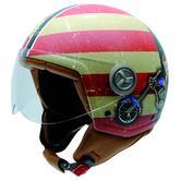 NZI Zeta Betty Boop Bandana Open Face Motorcycle Helmet XL (59m) Green Red Yellow