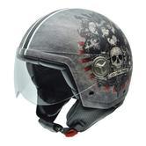 NZI Zeta Finish Open Face Motorcycle Helmet XL (59cm) Grey Red